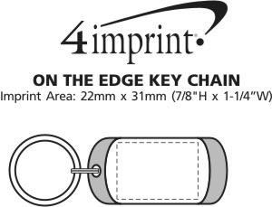 Imprint Area of On the Edge Keychain - Opaque