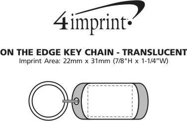 Imprint Area of On the Edge Keychain - Translucent
