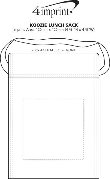 Imprint Area of Koozie® Lunch Sack