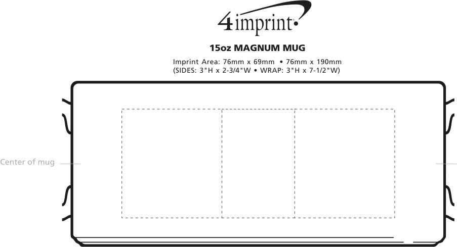 Imprint Area of Magnum Mug - 13 oz.