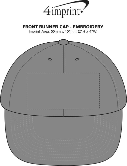 Imprint Area of Front Runner Cap - Embroidered
