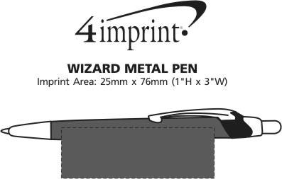 Imprint Area of Dimensions Metal Pen - Custom