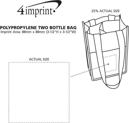 Imprint Area of Non-Woven Two Bottle Bag