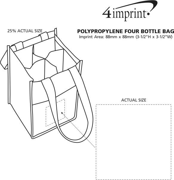 Imprint Area of Non-Woven Four Bottle Bag