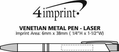 Imprint Area of Venetian Metal Pen - Laser