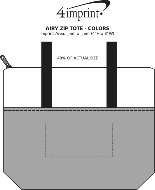 Imprint Area of Airy Zip Tote - Colours