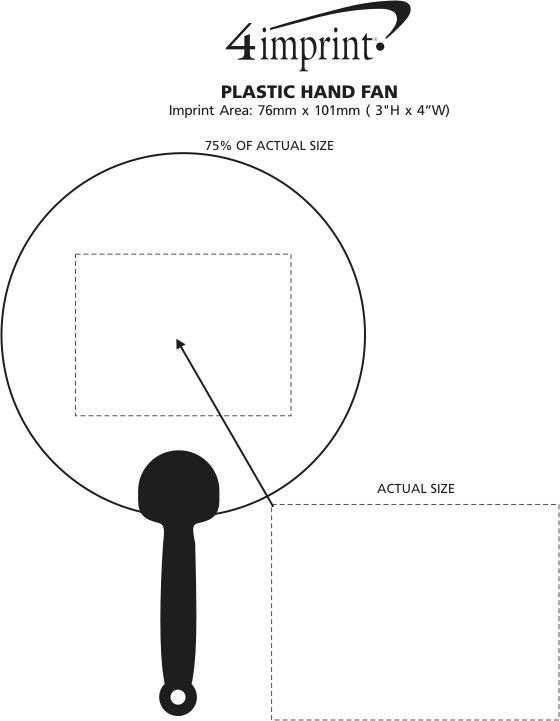 Imprint Area of Plastic Hand Fan