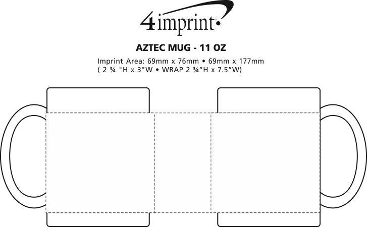 Imprint Area of Aztec Mug - 11 oz.