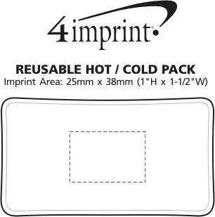 Imprint Area of Reusable Hot/Cold Pack