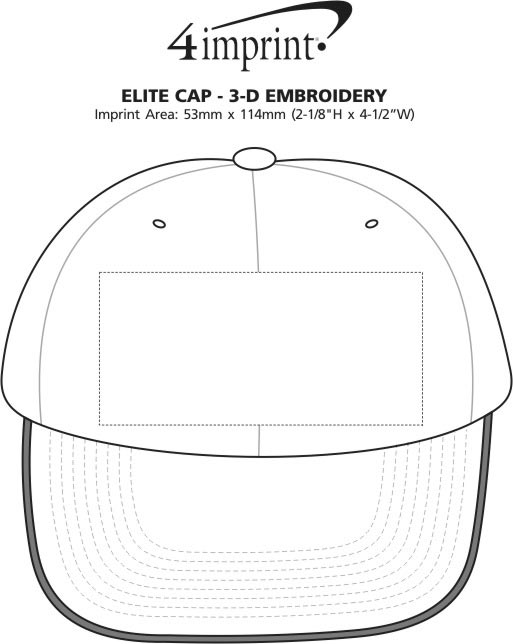 Imprint Area of Elite Cap - 3D Puff Embroidery