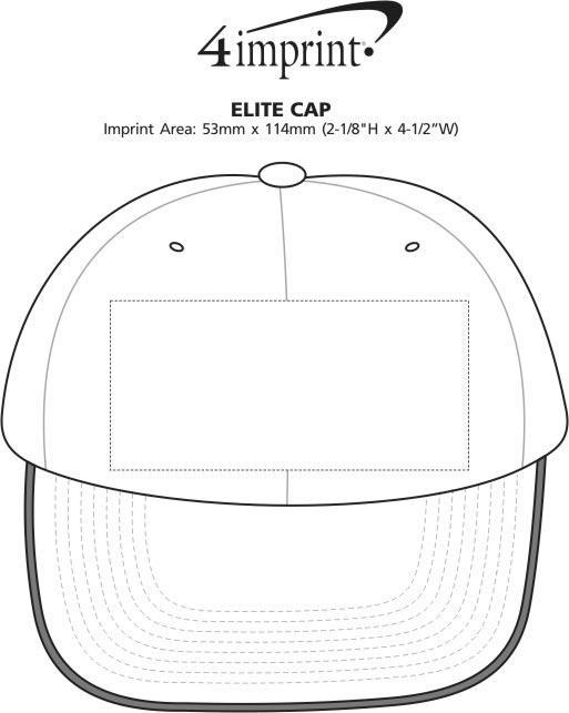 Imprint Area of Elite Cap