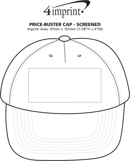 Imprint Area of Price Buster Cap - Screen