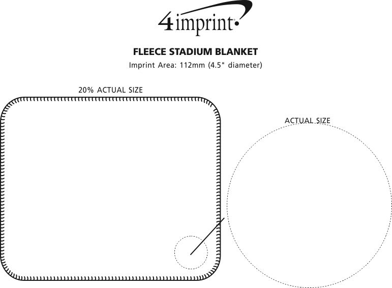 Imprint Area of Fleece Stadium Blanket