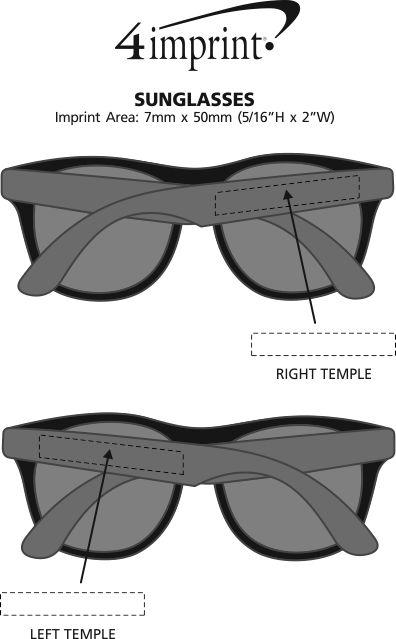 Imprint Area of Sunglasses