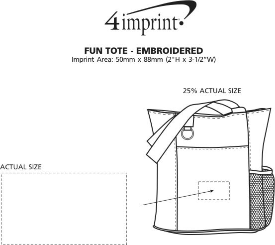Imprint Area of Fun Tote - Embroidered