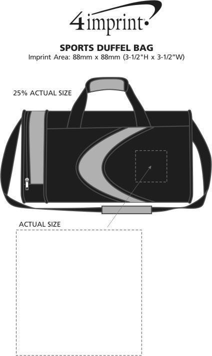 Imprint Area of Sports Duffel Bag