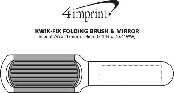 Imprint Area of Kwik-Fix Brush & Mirror