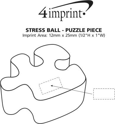 Imprint Area of Stress Reliever - Puzzle Piece
