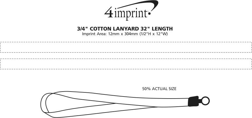 "Imprint Area of Cotton Lanyard - 3/4"" - 32"""