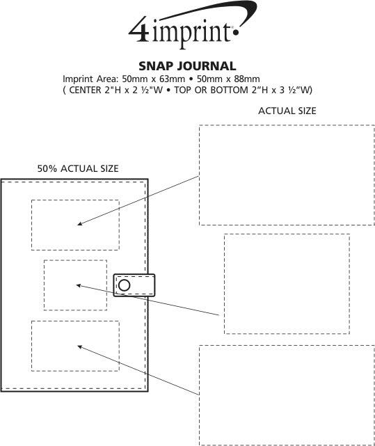 Imprint Area of Bradford Snap Journal