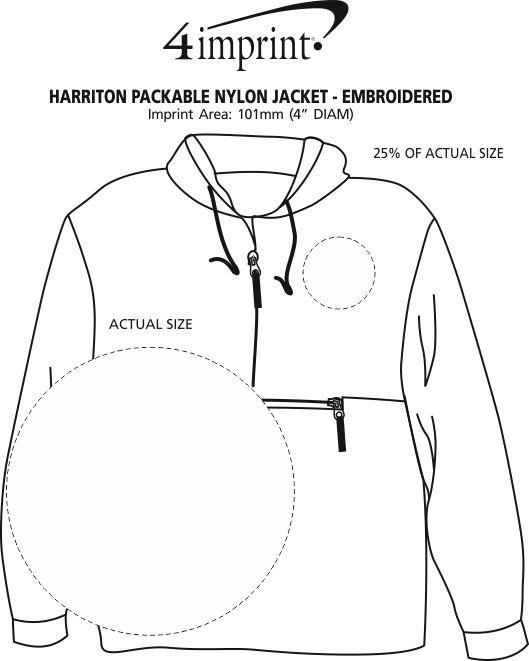 Imprint Area of Harriton Packable Jacket