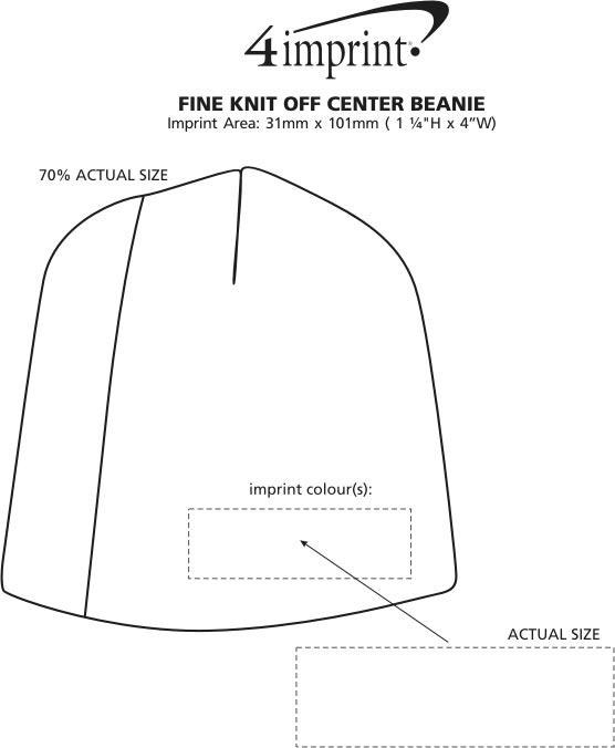 Imprint Area of Fine Knit Off Centre Beanie