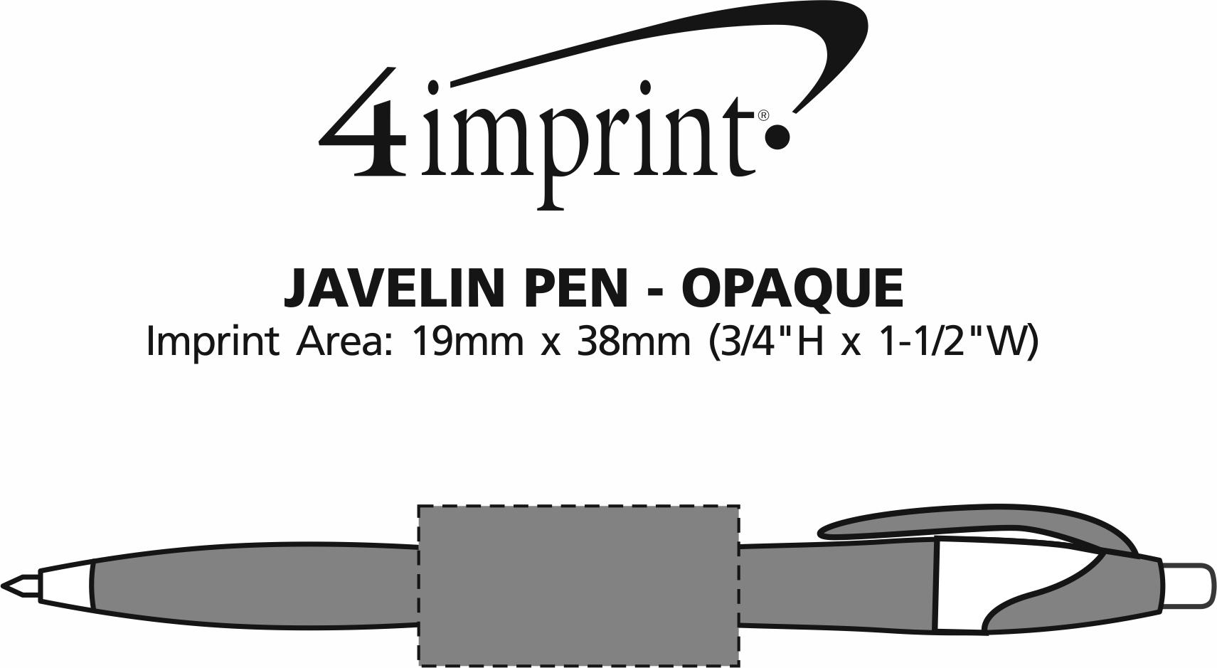 Imprint Area of Javelin Pen - Opaque