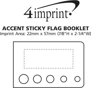 Imprint Area of Accent Sticky Flag Booklet