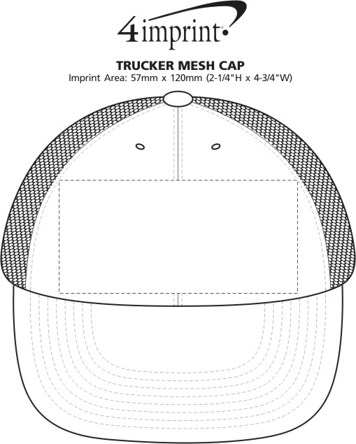 Imprint Area of Trucker Mesh Cap