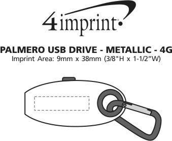 Imprint Area of Palmero USB Drive - Metallic - 4GB