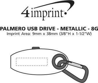 Imprint Area of Palmero USB Drive - Metallic - 8GB