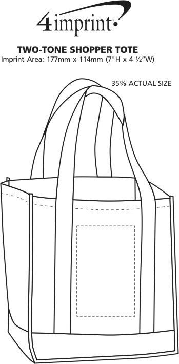 Imprint Area of Two Tone Shopper Tote