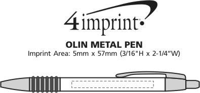 Imprint Area of Olin Metal Pen