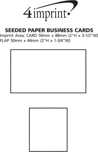 Imprint Area of Seeded Paper Business Cards