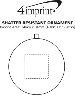 Imprint Area of Shatter Resistant Ornament