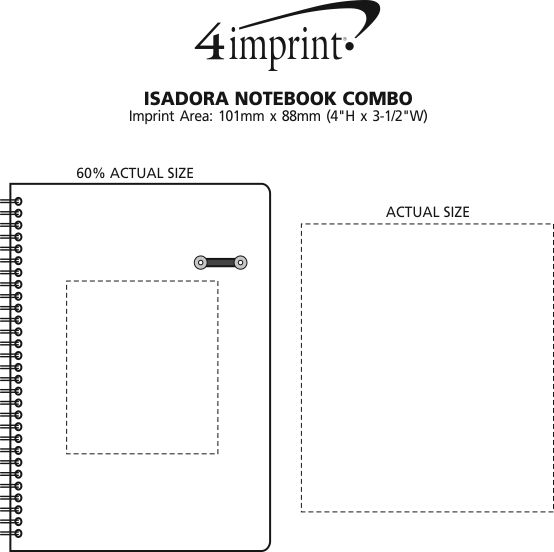 Imprint Area of Isadora Notebook Combo