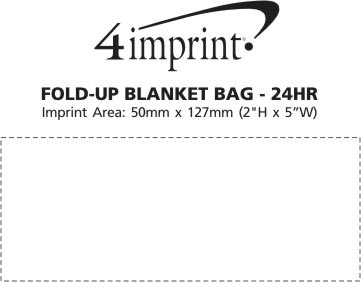 Imprint Area of Fold-Up Blanket Bag - 24 hr