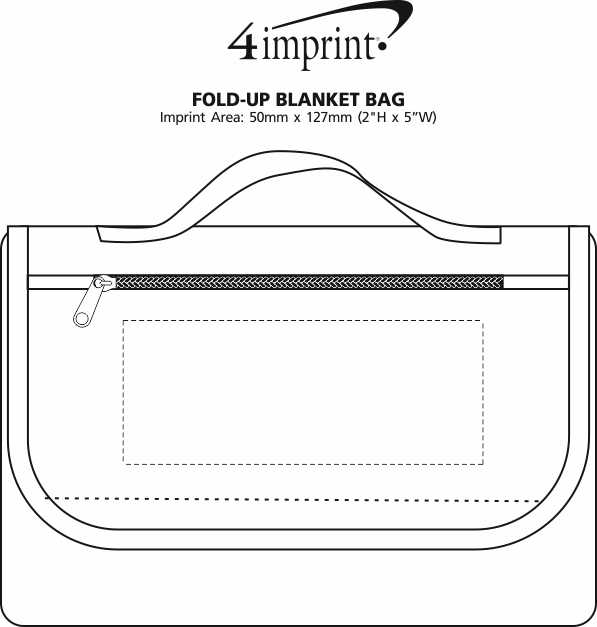 Imprint Area of Fold-Up Blanket Bag