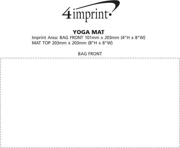 Imprint Area of Fitness Mat with Carrying Case