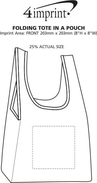 Imprint Area of Folding Tote in a Pouch