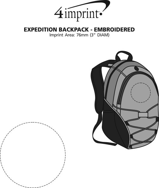 Imprint Area of Expedition Laptop Backpack - Embroidered