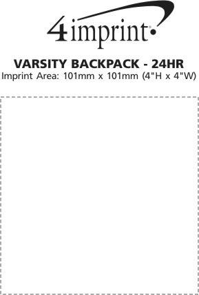 Imprint Area of Varsity Backpack - 24 hr