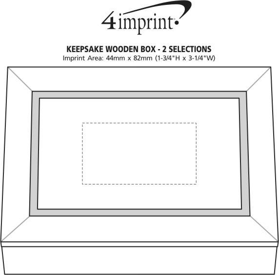 Imprint Area of Keepsake Wooden Box - Cashews & Chocolate Almonds