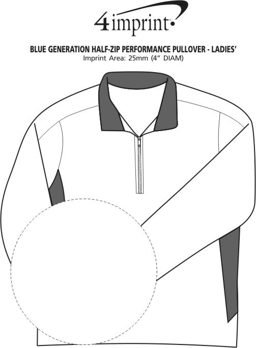 Imprint Area of Blue Generation 1/2-Zip Performance Pullover - Ladies'