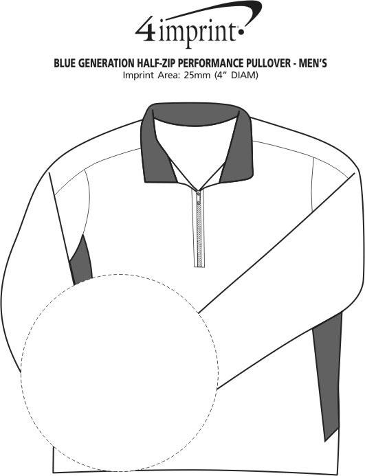 Imprint Area of Blue Generation 1/2-Zip Performance Pullover - Men's