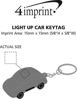 Imprint Area of Light-Up Car Keychain