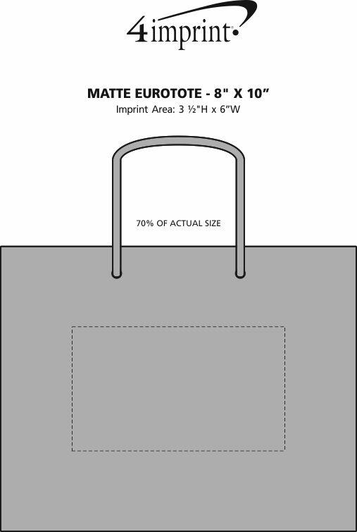 "Imprint Area of Matte Eurotote - 8"" x 10"""