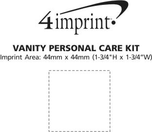 Imprint Area of Vanity Personal Care Kit