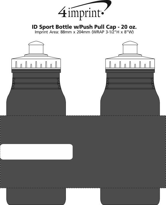 Imprint Area of ID Sport Bottle with Push Pull Cap - 20 oz.