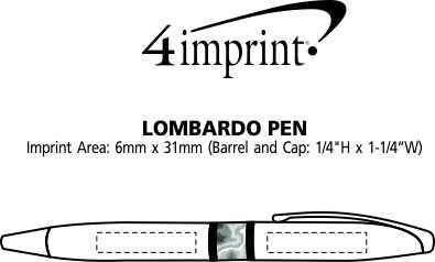 Imprint Area of Lombardo Twist Metal Pen